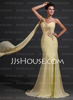 Mother of the Bride Dresses - $149.79 - Sheath One-Shoulder Sweep Train Chiffon Charmeuse Mother of the Bride Dresses With Ruffle Beading (008017368) http://jjshouse.com/Sheath-One-Shoulder-Sweep-Train-Chiffon-Charmeuse-Mother-Of-The-Bride-Dresses-With-Ruffle-Beading-008017368-g17368