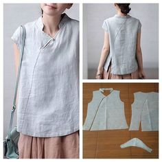 Cheongsam top pattern in casual way