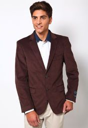 Look your formal best by wearing this brown coloured blazer from Arrow. This classy blazer is an ideal pick to add a dash of elegance to your look. It comes in slim fit to lend you a stylish look, and is made from 100% cotton for utmost comfort.
