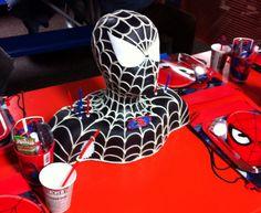 The amazing black spiderman bust cake