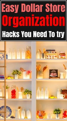Dollar Store Organization Hacks For Your Home Dollar Tree Crafts, Dollar Tree Store, Dollar Stores, Crafts For Teens To Make, Crafts To Sell, Diy And Crafts, Easy Crafts, Declutter Your Home, Organizing Your Home