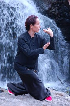 Tai Chi and Meditation by the Waterfall