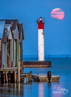 Super Moon - Port Rowan, Lake Erie, Michigan