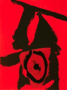 Robert Motherwell - The Red Queen | From a unique collection of prints and multiples at http://www.1stdibs.com/art/prints-works-on-paper/