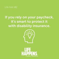 Here is some solid advice Financial Stress, Financial Tips, Financial Literacy, Short Term Disability Insurance, Insurance Marketing, Life Insurance Quotes, Life Happens, Health Insurance, Going To Work