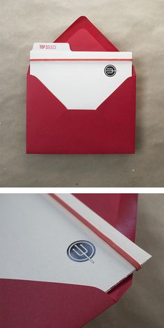 TOP SECRET - red reveal decoder invitations with mini file folder. would be so cute for a kid's spy-themed birthday part – Charm & Fig Torchys Tacos, Secret Agent Party, Spy Party, Mission Impossible, Birthday Invitations, Invites, Envelope Liners, Stationery Design, Letterpress