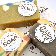 Handmade Soap Paper Stickers for Soap Gift Wrap Gift Soap Boxes Gift Stickers will increase the value of handmade soap,home baking,c. Soap Making Process, Soap Making Kits, Soap Making Recipes, Soap Making Supplies, Packaging Stickers, Craft Packaging, Candle Packaging, Soap Packaging, Soap Boxes