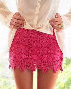 Pink Lace Skirt from Picsity.com