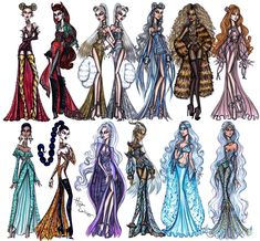#FBF to my 'Seeing Signs' collection. Which sign are you? #FashionIllustration #FlashbackFriday