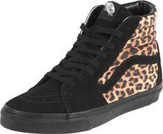 Vans Sk8 Hi leopard schwarz braun