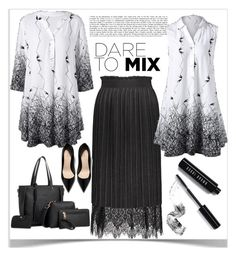 """Fabulous new blouses"" by kiveric-damira ❤ liked on Polyvore featuring Bobbi Brown Cosmetics"