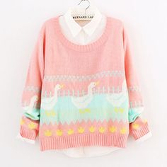Cool! Fresh Duck Pattern Pullover Sweater just $30 from ByGoods.com! I can't wait to get it!