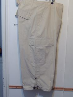Pantalon Bermuda Pescador Algodon Beige Importada
