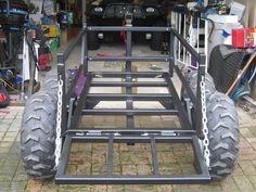 Travel Trailer with atv Deck . Inspirational Travel Trailer with atv Deck . Quad Trailer, Log Trailer, Trailer Plans, Trailer Build, Utility Trailer, Metal Projects, Welding Projects, Utv Trailers, Atv Accessories
