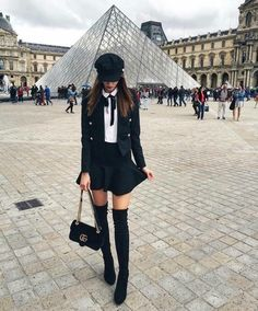 winter outfits preppy The Prettiest Winter Outfit - winteroutfits Paris Outfits, Winter Fashion Outfits, Fall Winter Outfits, Look Fashion, Paris Fashion, Autumn Fashion, Womens Fashion, Fashion Styles, Winter Dress Outfits