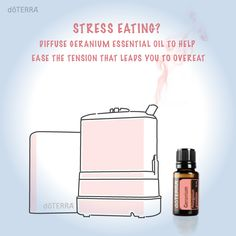 Did you know diffusing Geranium essential oil can help ease the tension that leads you to overeat? Try it and let us know if it helps you.