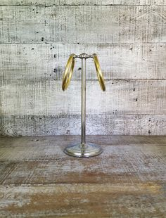 Towel Holder Stainless Steel and Brass Towel Stand Hollywood Regency Hand Towel Holder Gold Towel Ring Adjustable Dual Rings Mid Century by TheDustyOldShack on Etsy