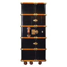 Have to have it. Authentic Models Stateroom Writing Armoire - Black - $2740 @hayneedle