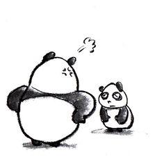 【一日一パンダ】 2014.12.5 コラッ! ごめん笹い。。。 #panda #pandaJP #パンダ