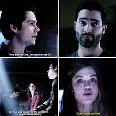 Teen Wolf Finale I love that Scott actually looks down to try and see it. SO FUNNY! Teen Wolf Finale, Teen Wolf 6b, Teen Wolf Ships, Teen Wolf Funny, Teen Wolf Dylan, Teen Wolf Cast, Dylan O'brien, Teen Wolf Season 6b, Stydia