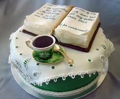 Book Teacup Birthday Cake by Reverie Cakes-- I want to see more book cakes. And more cake books, probably. Pretty Cakes, Cute Cakes, Beautiful Cakes, Amazing Cakes, Unique Cakes, Creative Cakes, Open Book Cakes, Cake Cookies, Cupcake Cakes