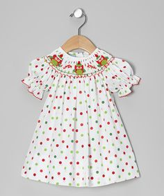 Red & Green Christmas Owls Bishop Dress - Infant, Toddler & Girls