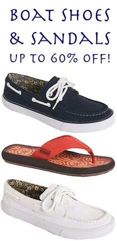 Boat Shoes and Sandals for Women ~ up to 60% off! {9.99+}