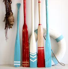 painted vintage oars & life ring at www.coastalvintage.com.au