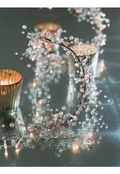 Crystal Light Garland and candles