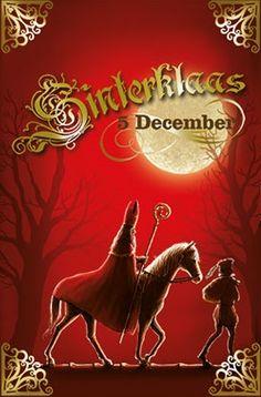 Sinterklaas en Piet, volle maan