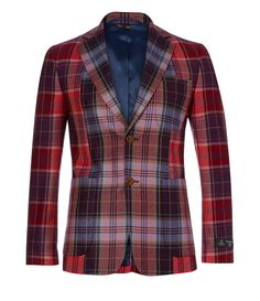 Morning Glory Tartan Blazer #Man #AW1415