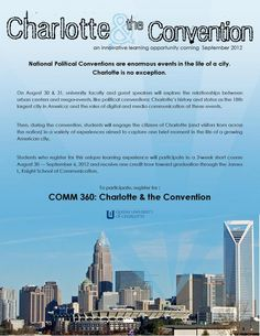 Description of the COMM 360 seminar at Queens University of Charlotte