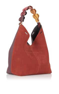 Anya Hindmarch Small Heart Link Bucket Bag Bull Leather in Chestnut
