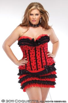 70be35c60fe0f Bow mesh red and black corset with padded cups