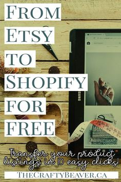 Shopify Dropshipping- Ideas of dropshipping - How to Transfer your Etsy Product Listings to Shopify in 10 clicks (and for Free!) The Crafty Beaver Craft Business, Business Tips, Online Business, Etsy Business, Free Ecommerce, Drop Shipping Business, E Commerce Business, Work From Home Moms, Super Simple
