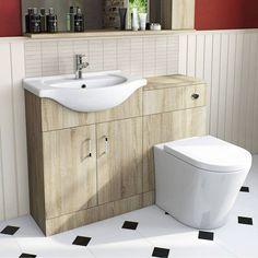 Vasari wall hung vanity unit basin pacific walnut for Bathroom cabinets victoria plumb