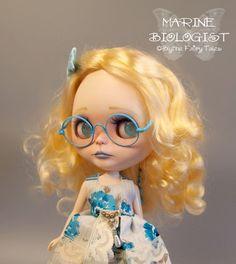 OOAK custom BLYTHE doll - Marine Biologist  - by Blythe Fairy Tales