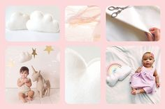Sweet white cloud pillows, they go with everything!