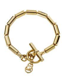 Michael Kors Golden Beaded Chain Bracelet