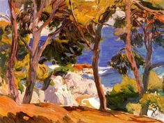 Page: Coast at Santa Cristina Artist: Joaquín Sorolla Completion Date: 1914 Place of Creation: Spain Style: Impressionism Genre: landscape Technique: oil Material: canvas