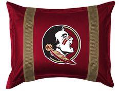 Florida St. Seminoles NCAA Sports Coverage Team Color Standard Sidelines Sham #SportsCoverage