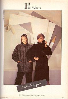 1983 Salvatore Ferragamo Fashion Clothing Print Advertisement Ad Vintage VTG 80s | eBay