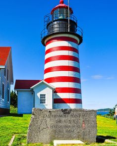 Maine Lighthouses and Beyond: West Quoddy Head Lighthouse. To enjoy my site on lighthouses, click on the above photo.