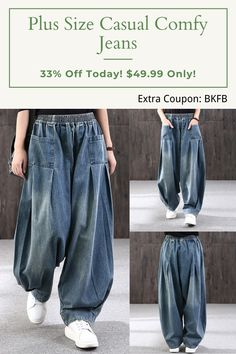 Baggy Clothes, Kinds Of Clothes, Diy Clothes, Outfit Jeans, Sport Outfits, Cool Outfits, Fancy Dress Design, Loose Jeans, Denim Cotton