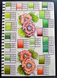 3 examples of coloring journals alshandra copic journal