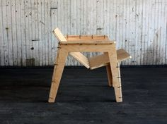 Object Guerrilla's Flat-Pack Lounge Chair Can Be Assembled in a Snap Using Zip Ties