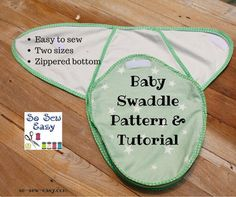This baby swaddle pattern and tutorial has been requested by many of our readers over the past few months. I have tried to make the baby swaddle pattern both easy to adjust and to sew. Hope you enjoy Sewing Patterns Free, Baby Patterns, Free Sewing, Sewing Tutorials, Sewing Ideas, Free Pattern, Quilt Pattern, Sewing Tips, Sewing Hacks