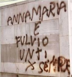 Scritte sui muri: l'amore sgrammaticato
