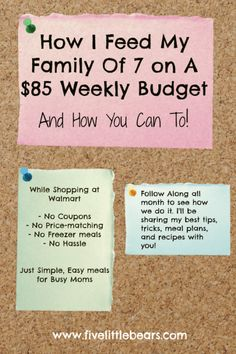 how I feed my large family for $85 a week