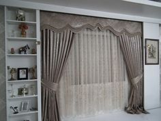 Living Room Modern, Living Room Designs, Living Room Decor, Bedroom Decor, Classic Curtains, Elegant Curtains, Curtain Room, Curtain Pelmet, Valance
